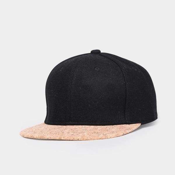 Wool Cork Snapback - Black