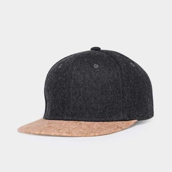 Wool Cork Snapback - Dark Gray