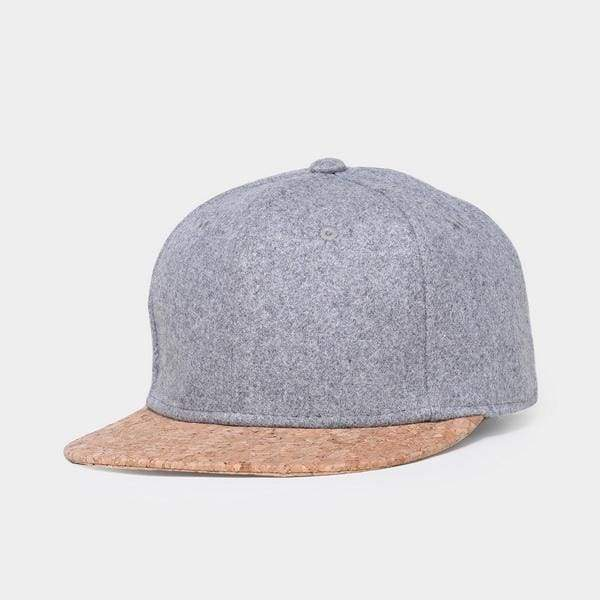 Wool Cork Snapback - Gray