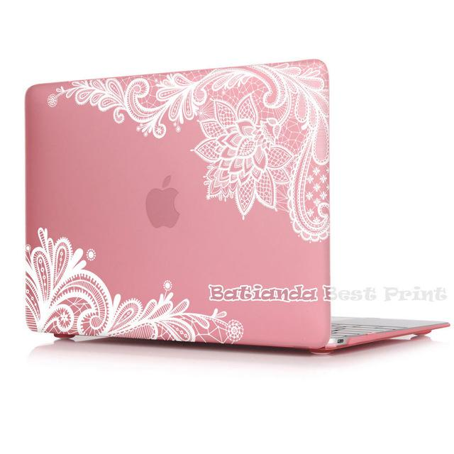 New Fashion For Girls Matte Lace Case Cover for Macbook Air 13 12 11 Pro 13 15 inch With Retina Laptop Sleeve Accessories - case.n.more