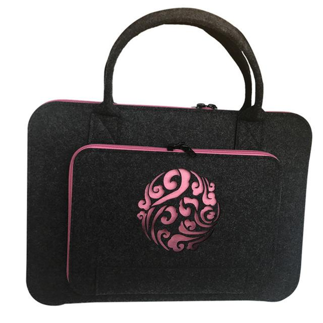 Pink Coulds Laptop Sleeve Bag 11 12 13 14 15.6 17 Inch Laptop Case For Women Handlebag For Macbook Air 13