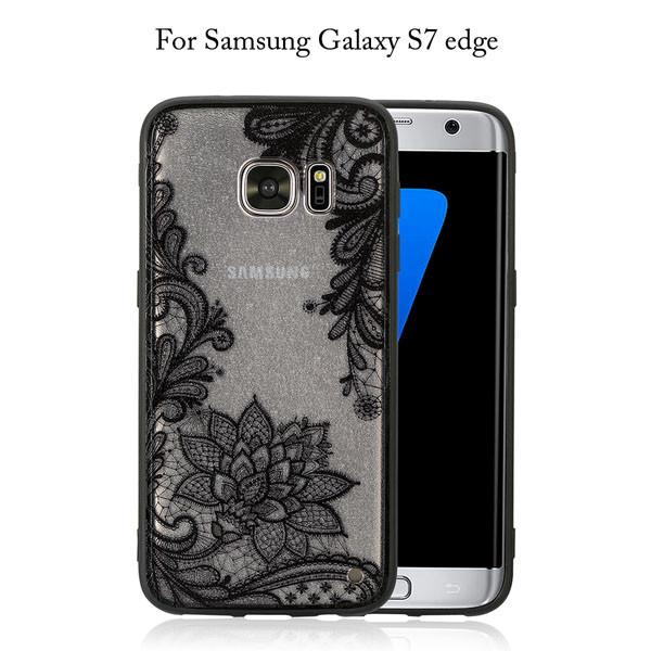 Samsung Galaxy S7 S6 edge S8 Plus Retro Floral Phone Case