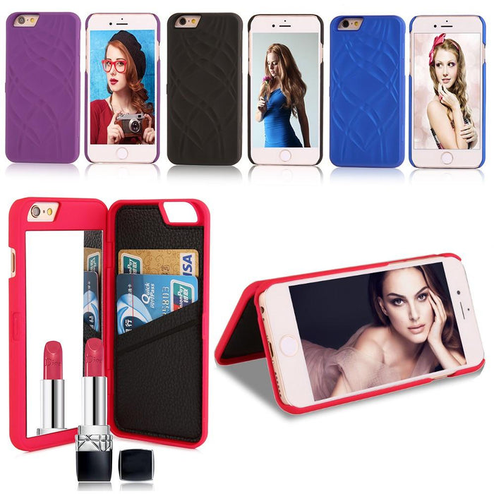 Fashion Lady Mirror Wallet Case
