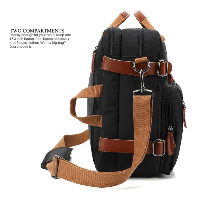 Convertible Backpack Laptop bag 17 17.3 inch notebook bag shoulder Messenger Bag Laptop Case Handbag Business Briefcase Rucksack - case.n.more