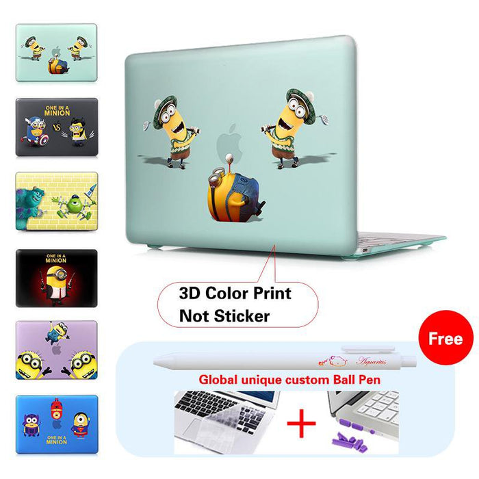 whimsy Minions Matte Hard Case For macbook air pro 13 11 12 15