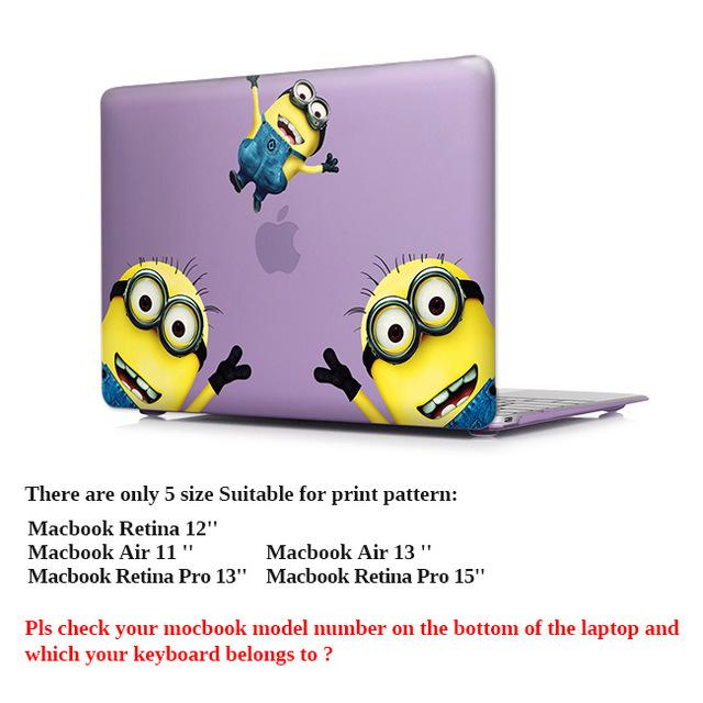 whimsy Minions Matte Hard Case For macbook air pro 13 11 12 15 - case.n.more