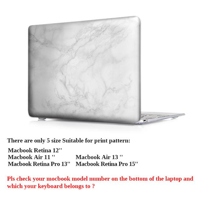Marble Print Laptop Accessories Hard Case Cover Air 11'' 12'' 13'' For Macbook Pro 13 13.3 15