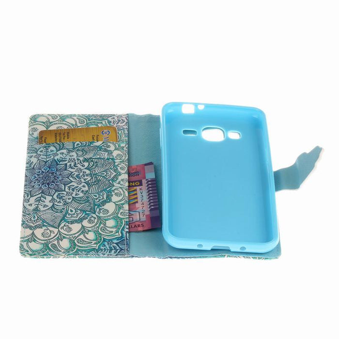 Leather Wallet Flip Case For Samsung Galaxy J3 - case.n.more