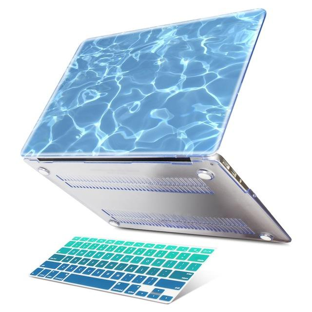 Plastic Hard Case & Keyboard Cover for Apple Macbook Air 11 12 13 A1466 Pro 13 15 A1278 A1502 A1706 A1707 - case.n.more