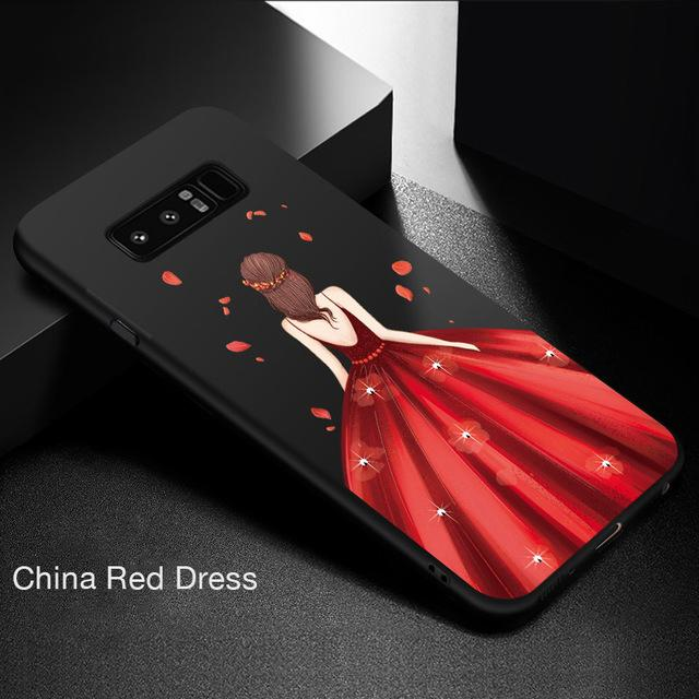 Samsung Galaxy Note 8 Case Luxury With Beautiful Dress Silicone Cover