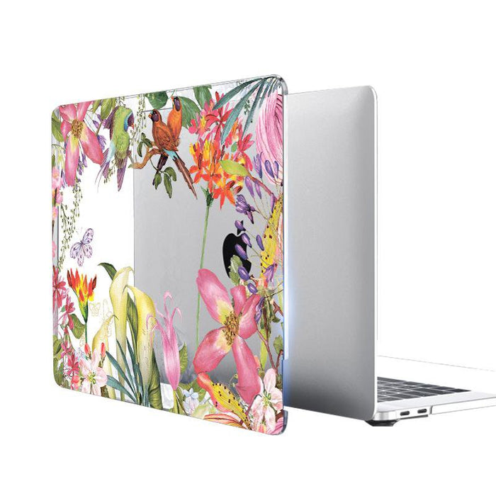 Clear Crystal Case For macbook Pro 13 15 Retina 12 inch Touch Bar Watercolor flower Laptop bag Cover for Macbook Air 13 case - case.n.more
