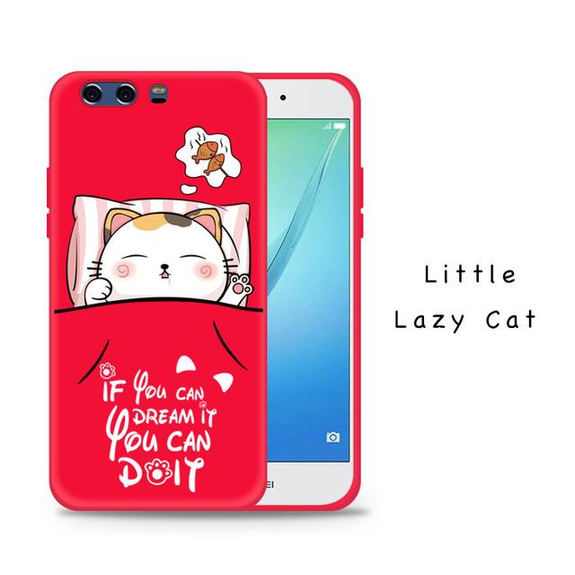 Silicone Case For Huawei P10 and Huawei P10 plus  Cover With 3D Cartoon Relief