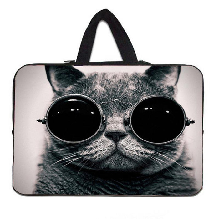 Cute Cat 14'' 14.4'' Soft Netbook Laptop Sleeve Case Bag Pouch For Asus Acer For HP Pavilion 14 HP Envy Dell Vostro 14 14.4 #