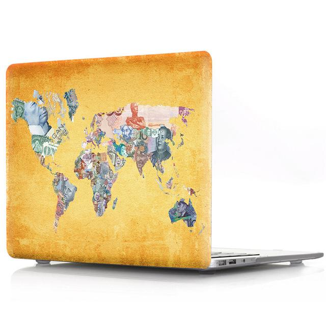 World Map Plastic Hard Case For Mac Book Air Pro Retina 13 11 12 15 Laptop Case for macbook A1706 A1708 A1707 A1466