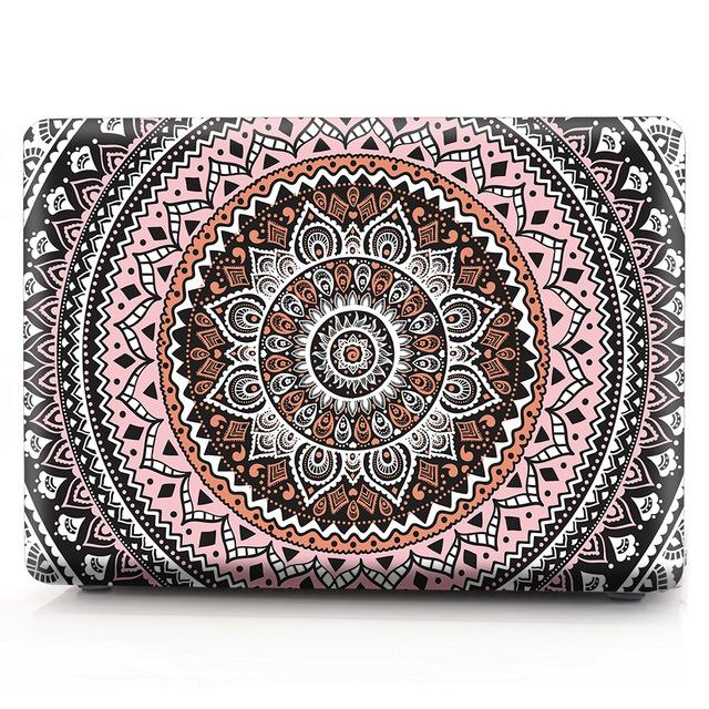 Mandala Flower Print Hard Laptop Case For Macbook Pro 13 15