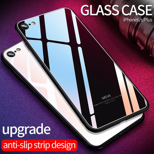 Luxury Glass case for iPhone 8 - case.n.more