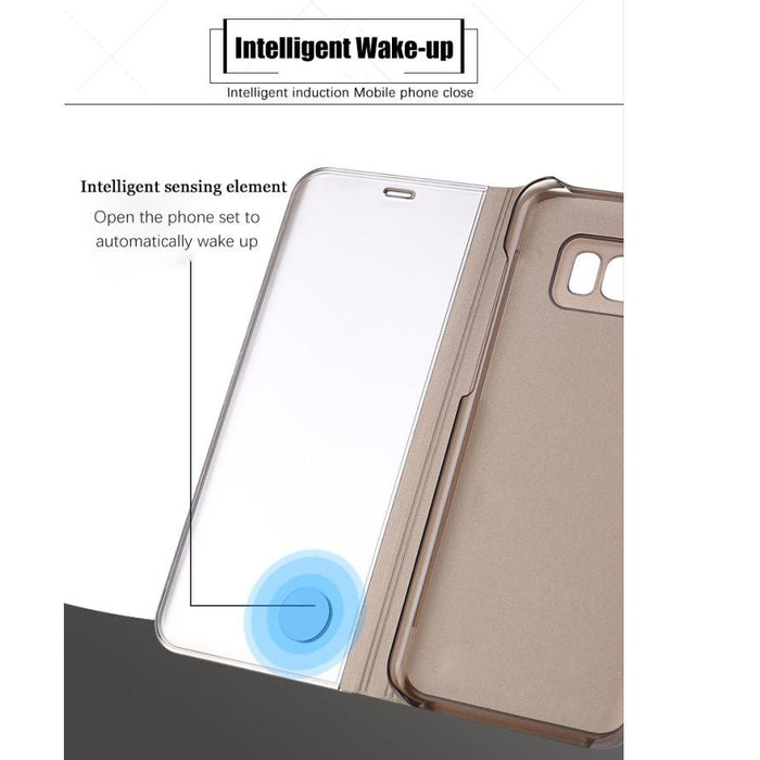 Clear View Mirror Smart Case For Samsung Galaxy