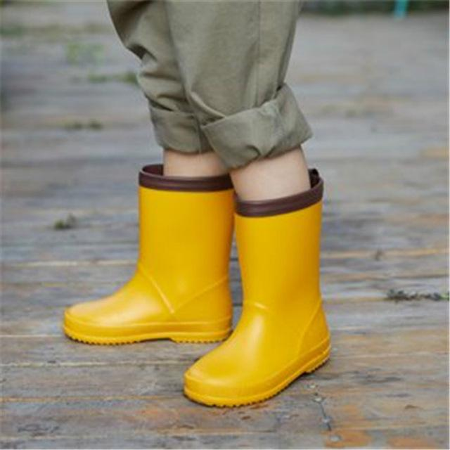 New Model Kids Yellow Rain Boots