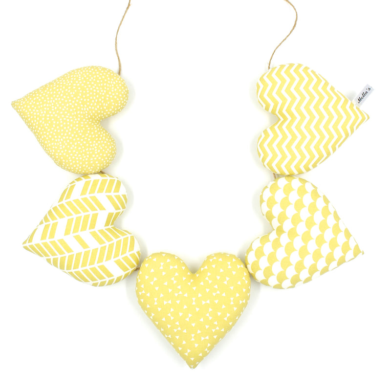 Yellow Heart Garland