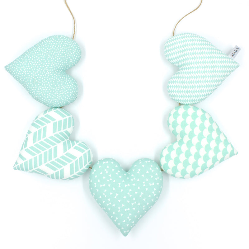 Mint Green Heart Garland