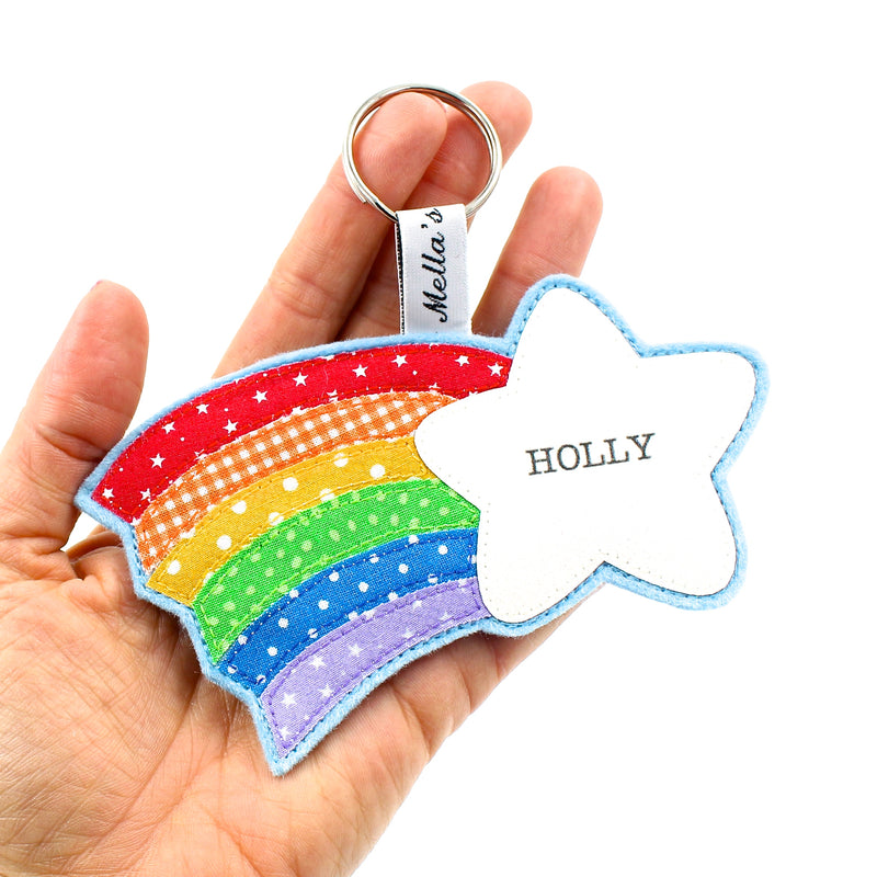 Rainbow Shooting Star Bag Tag