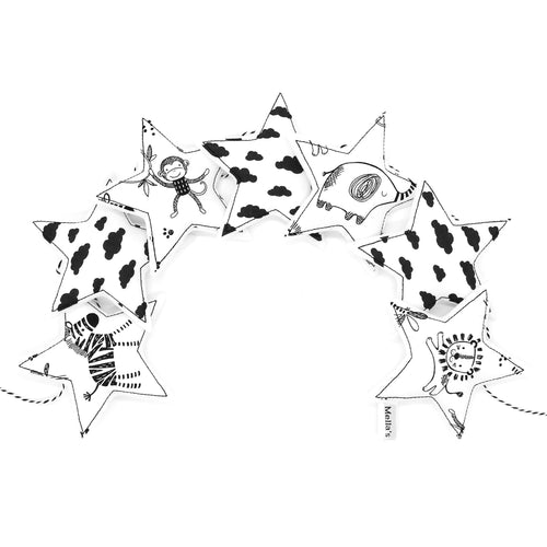 Monochrome Mini Star Garland