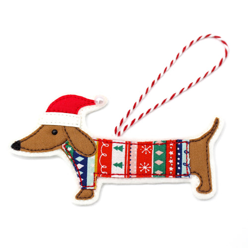 Christmas Dachshund Decoration