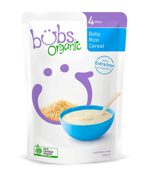 Bubs Organic Baby Rice Cereal