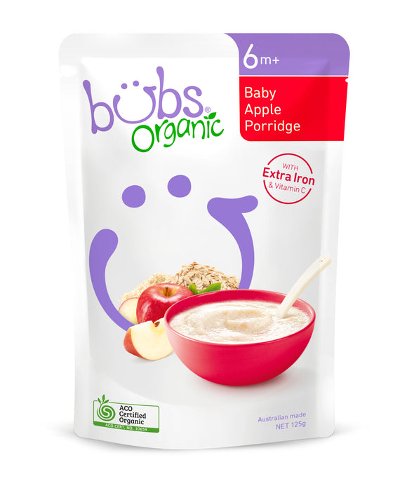 Bubs Organic Baby Apple Porridge