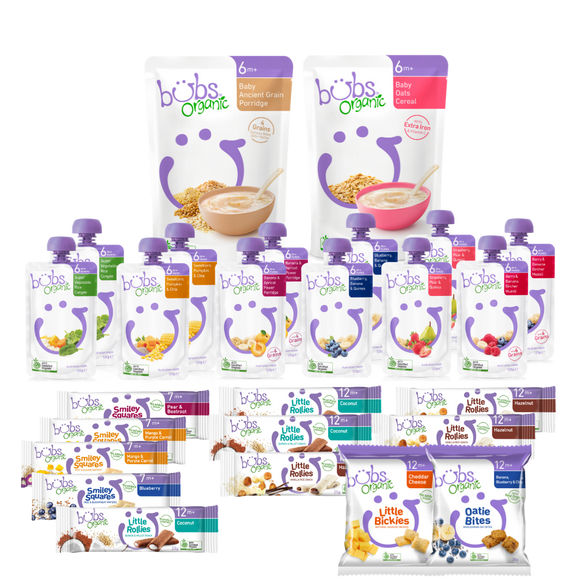 Bubs® Organic Baby Food 12months+ Two-week Bundle
