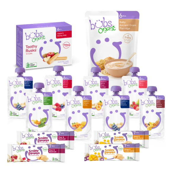 Bubs® Organic Baby Food 6months+ One-week Bundle