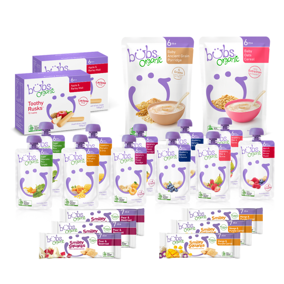 Bubs® Organic Baby Food 6months+ Two-week Bundle