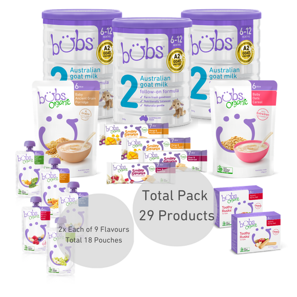 Bubs® Australian Goat Milk Stage 2 Two-Week Bundle