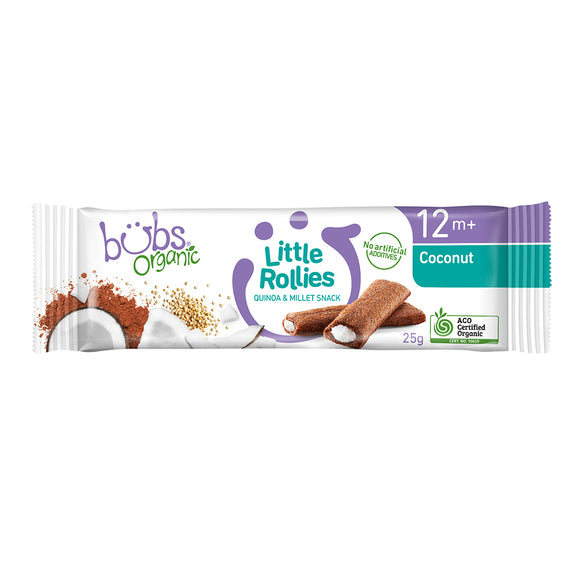 Bubs® Organic Little Rollies Coconut and Raw Cacao
