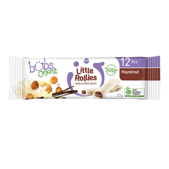 Bubs Organic Little Rollies Hazelnut