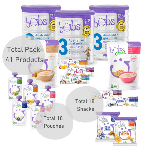 Bubs® Australian Goat Milk Stage 3 One-Month Bundle