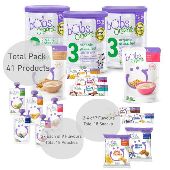 Bubs® Organic Grass Fed Toddler Milk Stage 3 One-Month Bundle