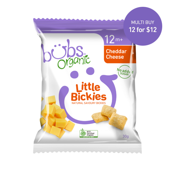Bubs Organic® Little Bickies Cheddar Cheese