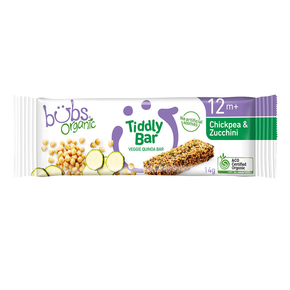 Bubs Organic® Tiddly Bar Chickpea and Zucchini