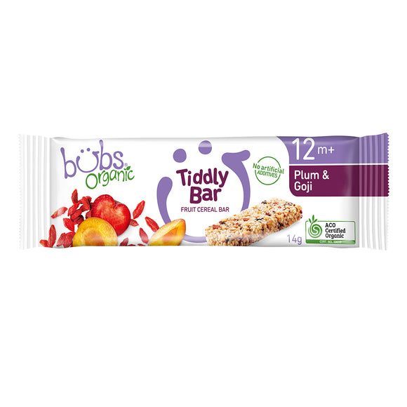 Bubs® Organic Tiddly Bars Plum and Goji