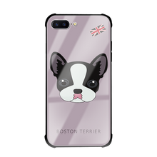 Boston terrier tempered glass phone case for iPhone 7/7 plus