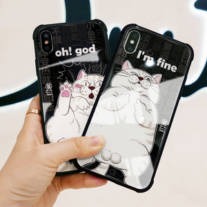 Eggy Tempered glass phone case