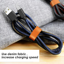 Android denim fabric Data Cables
