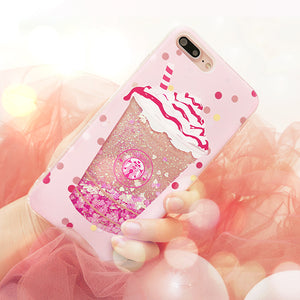 Blingbling quicksand phone case for iPhone