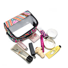 transparent window cosmetic bag