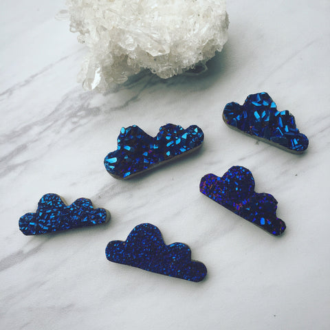 Druzy Cloud - Titanium Coating - Cobalt