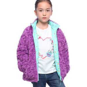 Back to School Sale-Girls' Lightweight Reversible Puffer Jacket