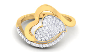 Twirly Heart Diamond Ring