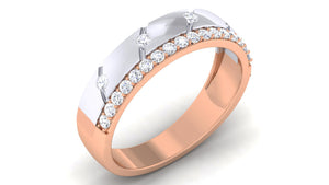Smart Rose Gold Diamond Ring
