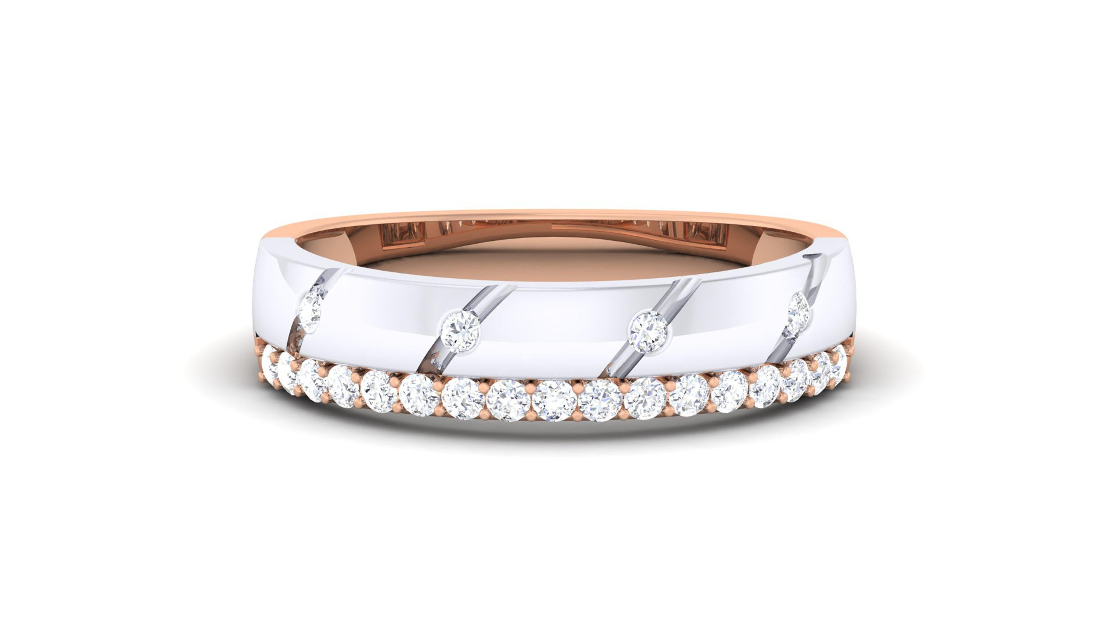 One Line Elegant Fancy Diamond Ring